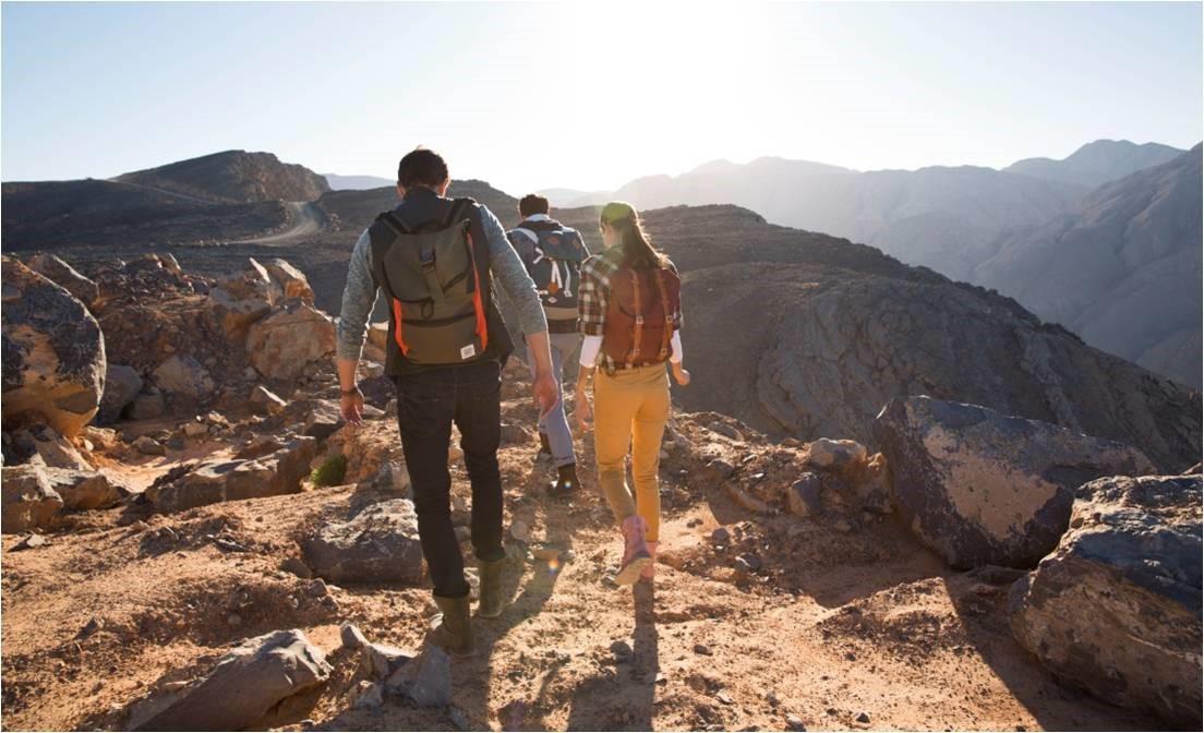 Arabia: trekking alpino con vista mare a Ras Al Khaimah