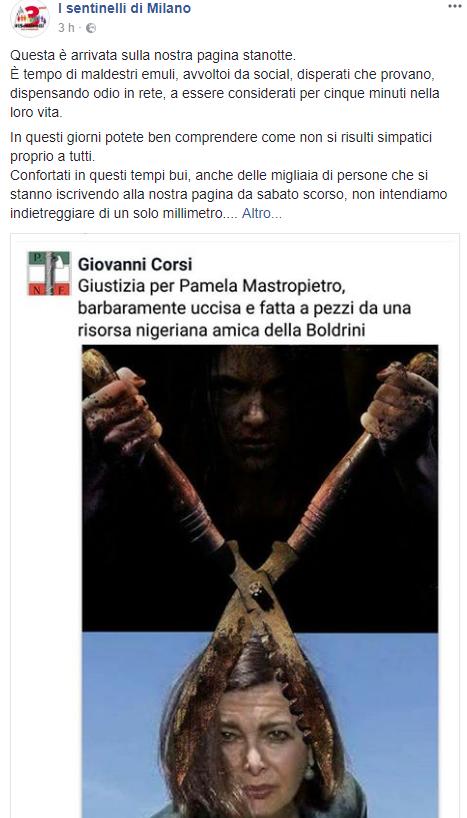 Laura Boldrini, nuovo fotomontaggio shock:  Fatta a pezzi come Pamela
