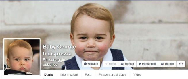 """Il principino George? Su Facebook ormai è diventato una star e... """"ti disprezza"""""""