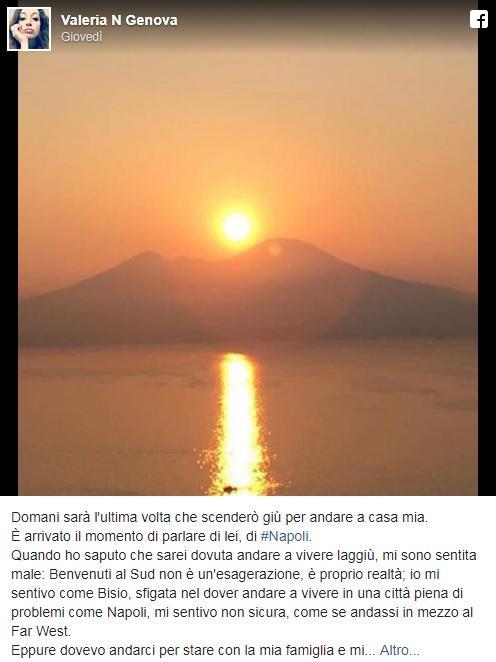 Napoli, donna di Treviso scrive una lettera d'amore alla città