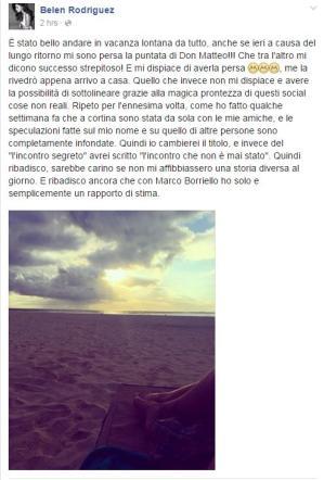 Belen e Marco Borriello, solo amicizia