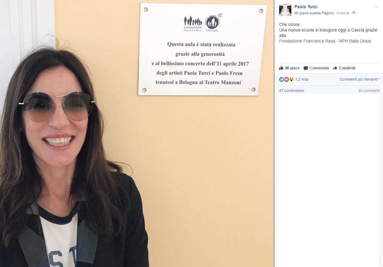 Terremoto, a Cascia è festa con Paola Turci per la nuova scuola