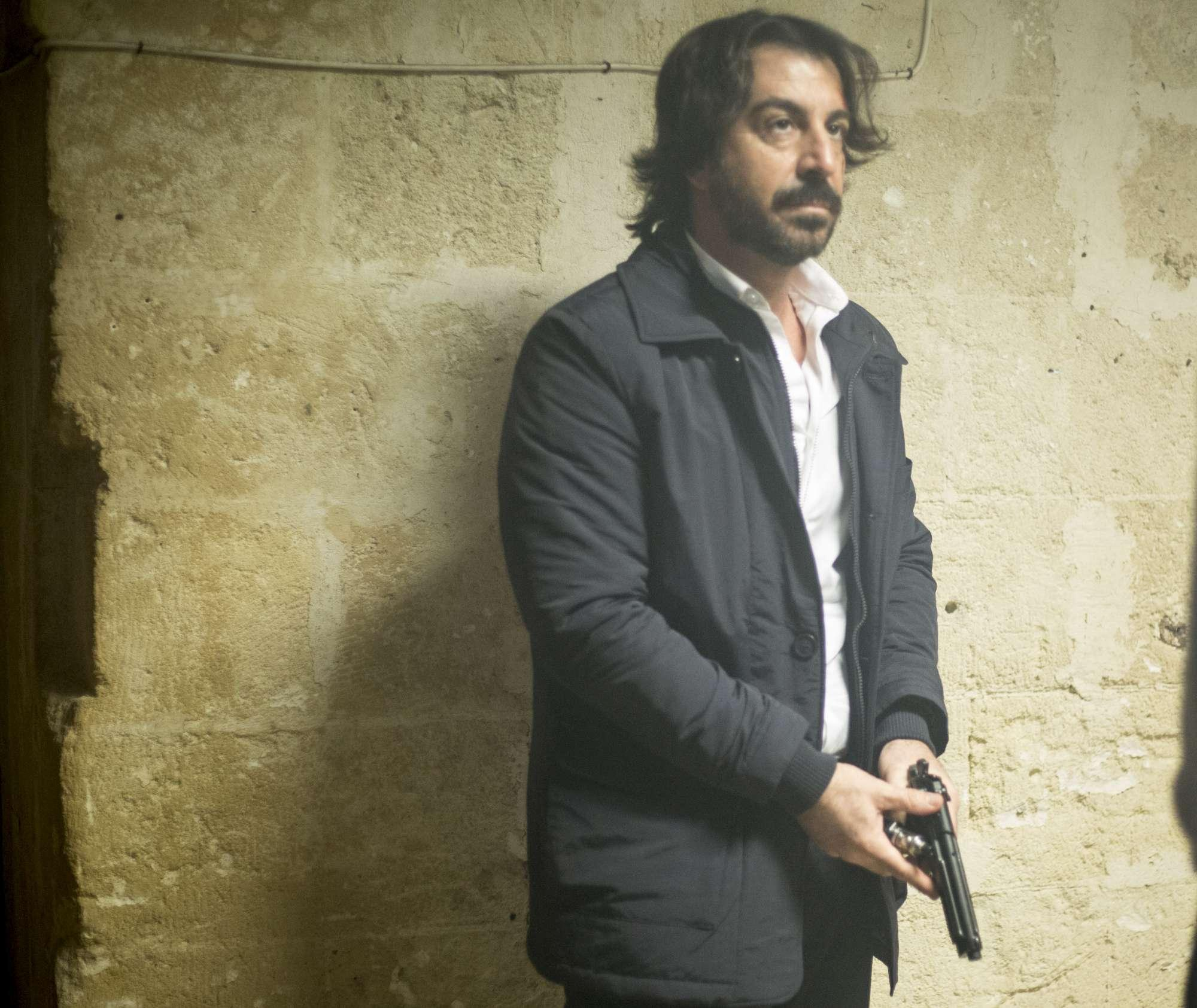 Marco Mazzoli sul set di  The tracker