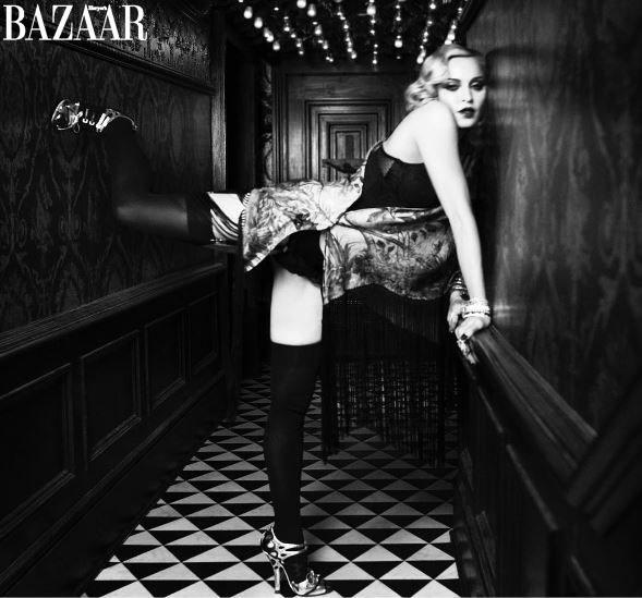 Madonna in lingerie per  Harper s Bazaar