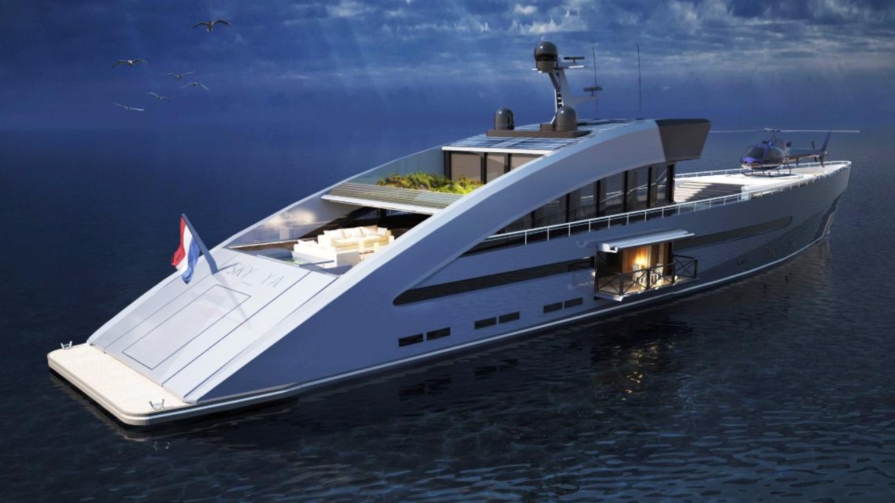 metti un giardino sul super yacht foto tgcom24