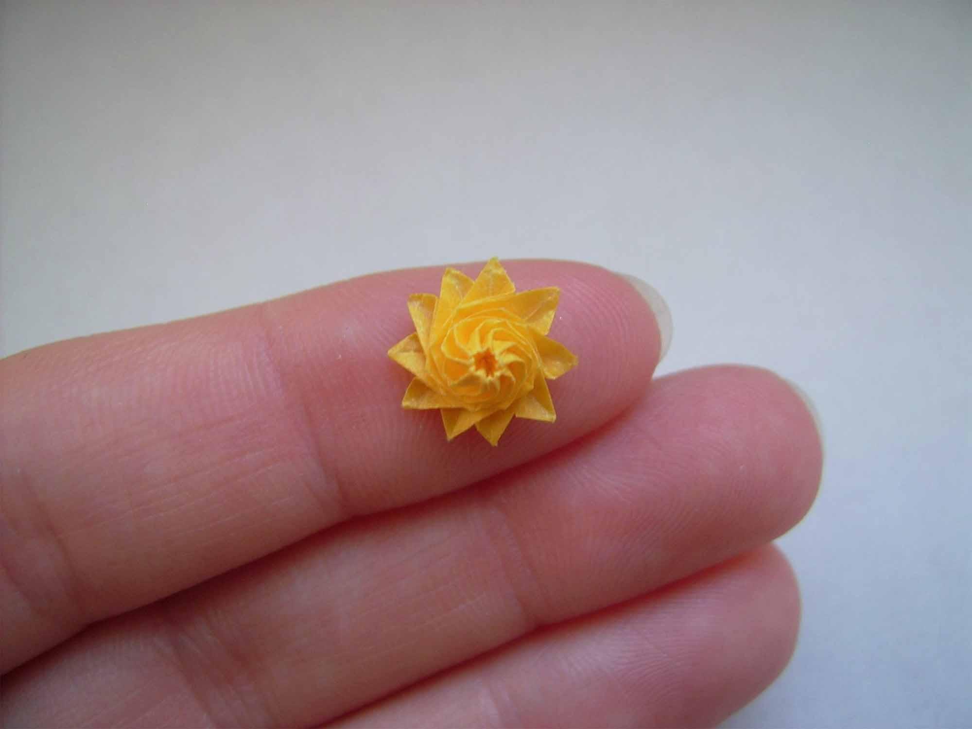 Le meraviglie degli origami nani, quando piccolo è bello