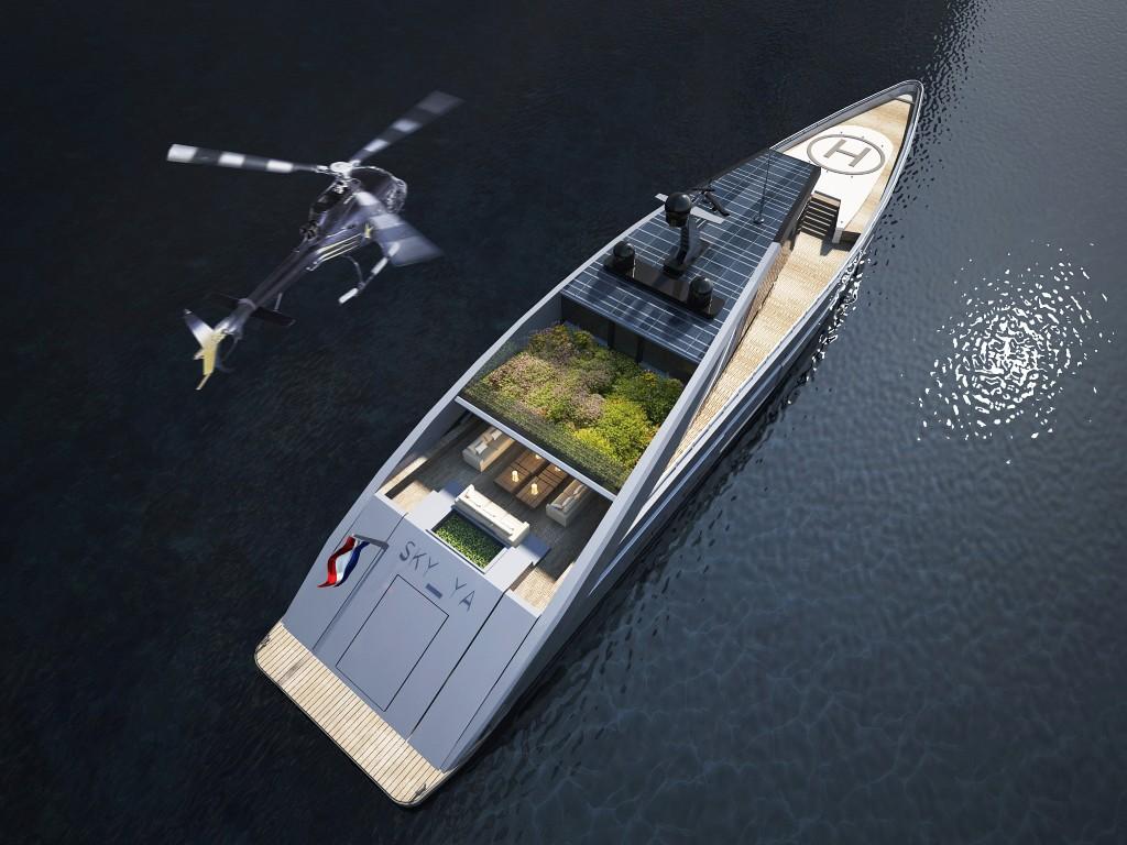 lussi di alto mare un super yacht con tanto di giardino