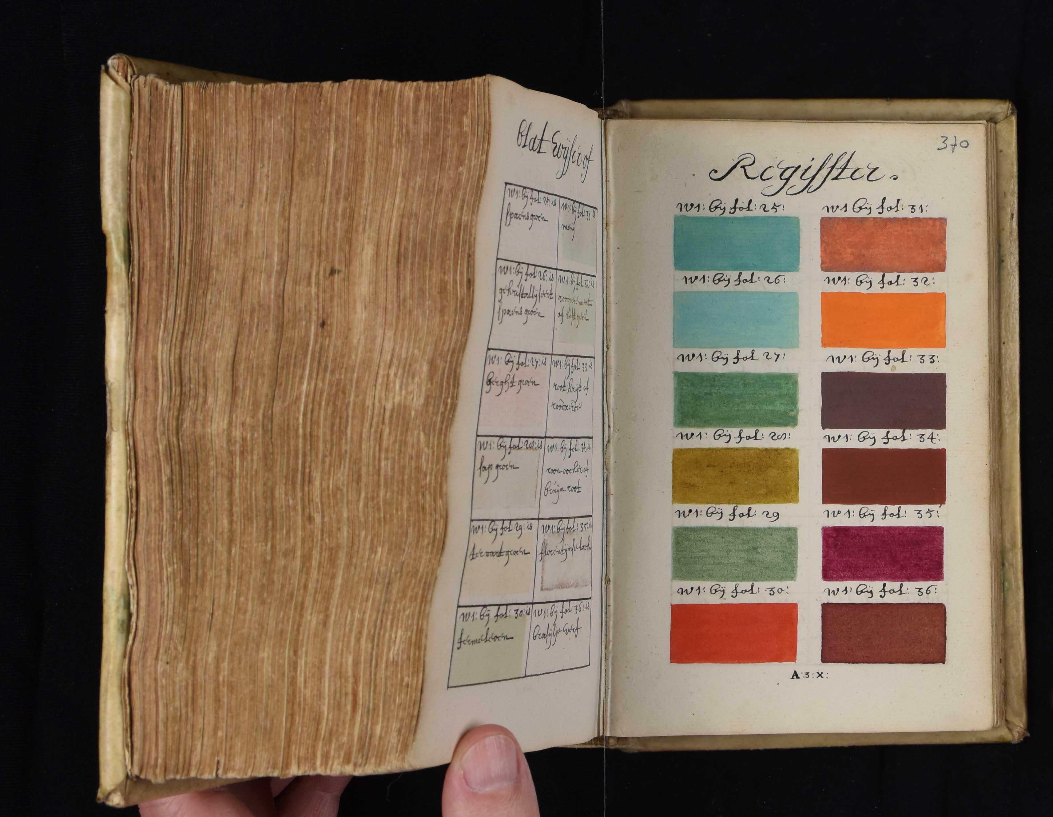 Il pantone 271 anni prima in un libro dipinto a mano - Libro immagini a colori ...