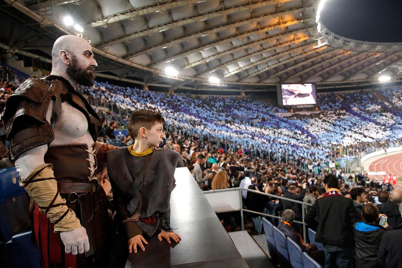 Il dio della guerra allo Stadio Olimpico