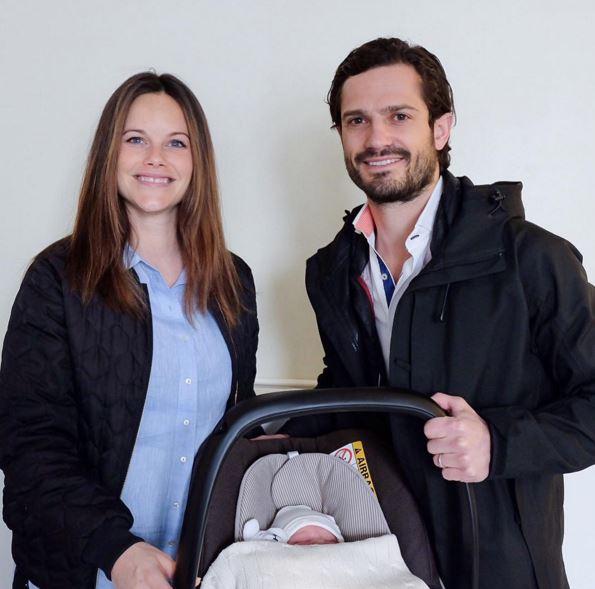 Carlo Filippo e Sofia presentano il Royal baby di Svezia