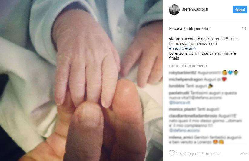 Stefano Accorsi e Bianca Vitali: è nato il figlio Lorenzo