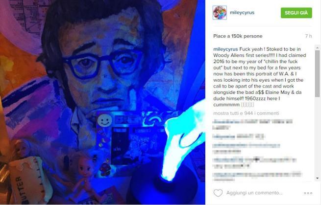 Miley Cyrus, la pop star protagonista della prima serie tv di Woody Allen