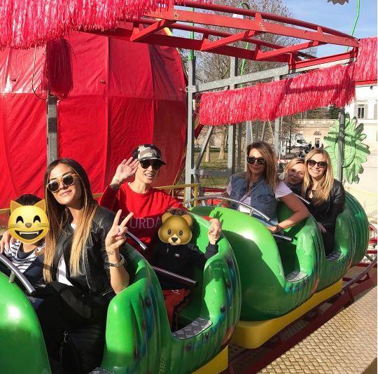 Satta, Salvemini e Palmas al lunapark con i bambini