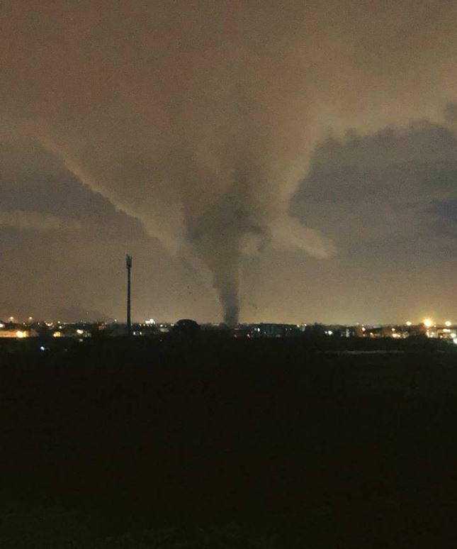 Maltempo, tromba d aria nel Casertano: ingenti i danni