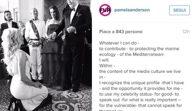 Pamela Anderson è diventata contessa