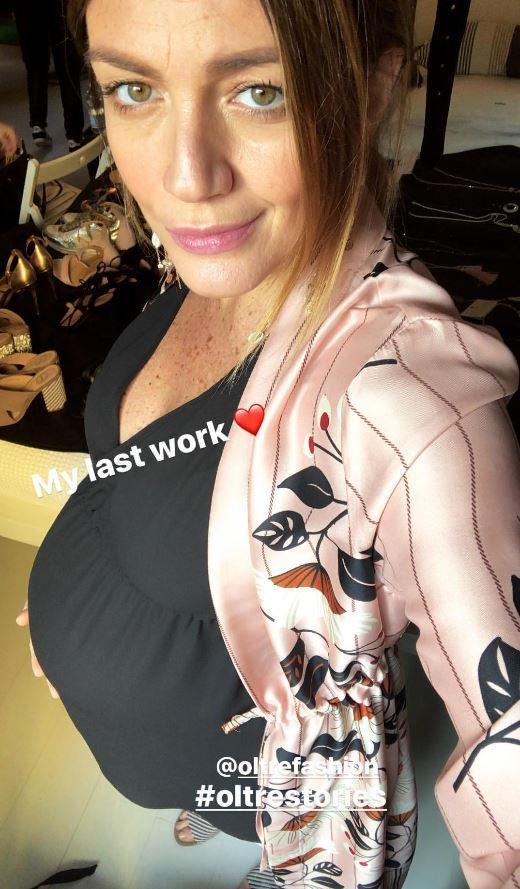 Chiara Maci panzona, guarda il suo ultimo giorno di lavoro prima del parto