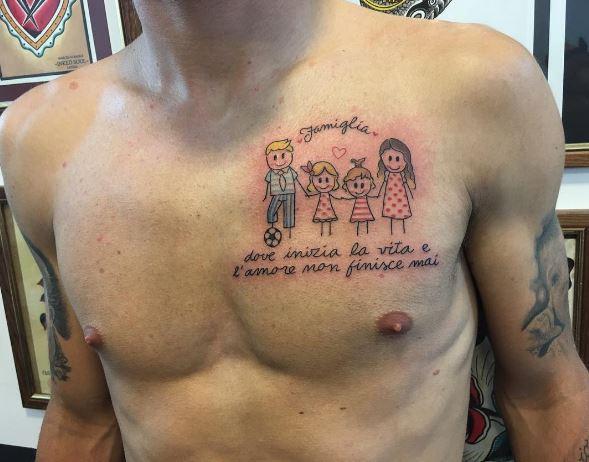 Ciro Immobile: tatuaggio con dedica
