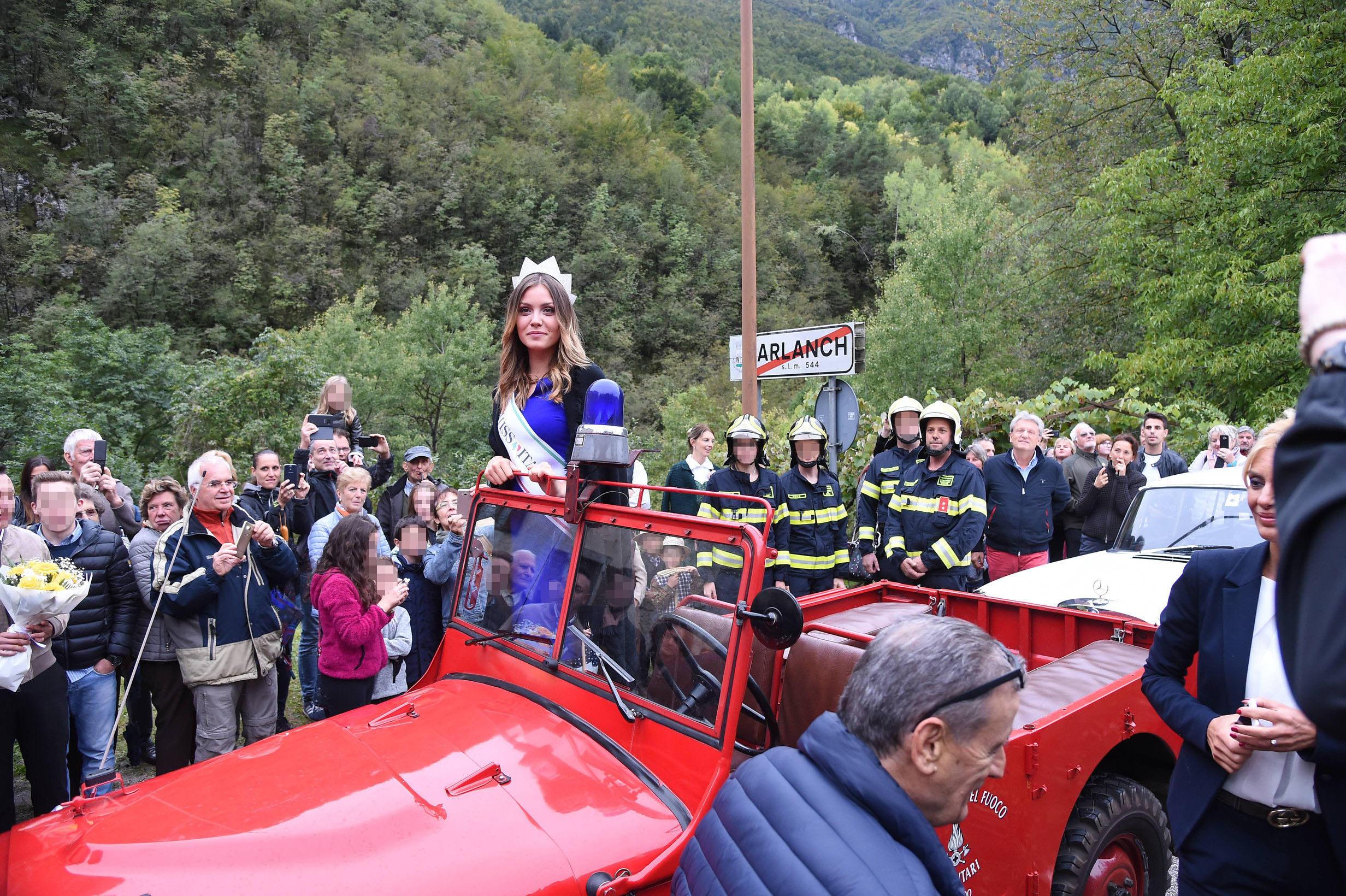 Miss Italia Alice Rachele Arlanch accolta in Vallarsa e poi al Mart