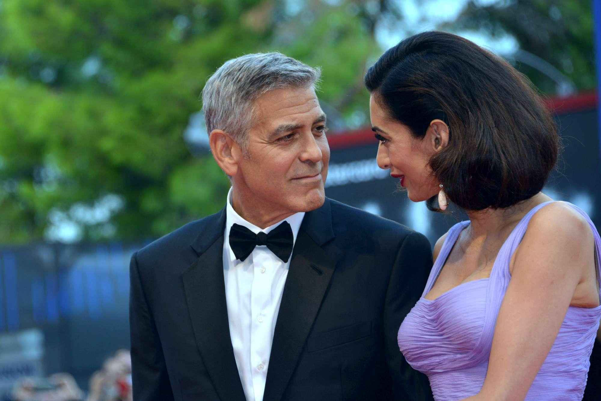 George Clooney a Venezia, ecco le foto dei gemelli