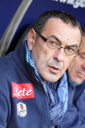 """Napoli, Sarri con la sciarpa di Mancini: """"Promessa mantenuta"""""""