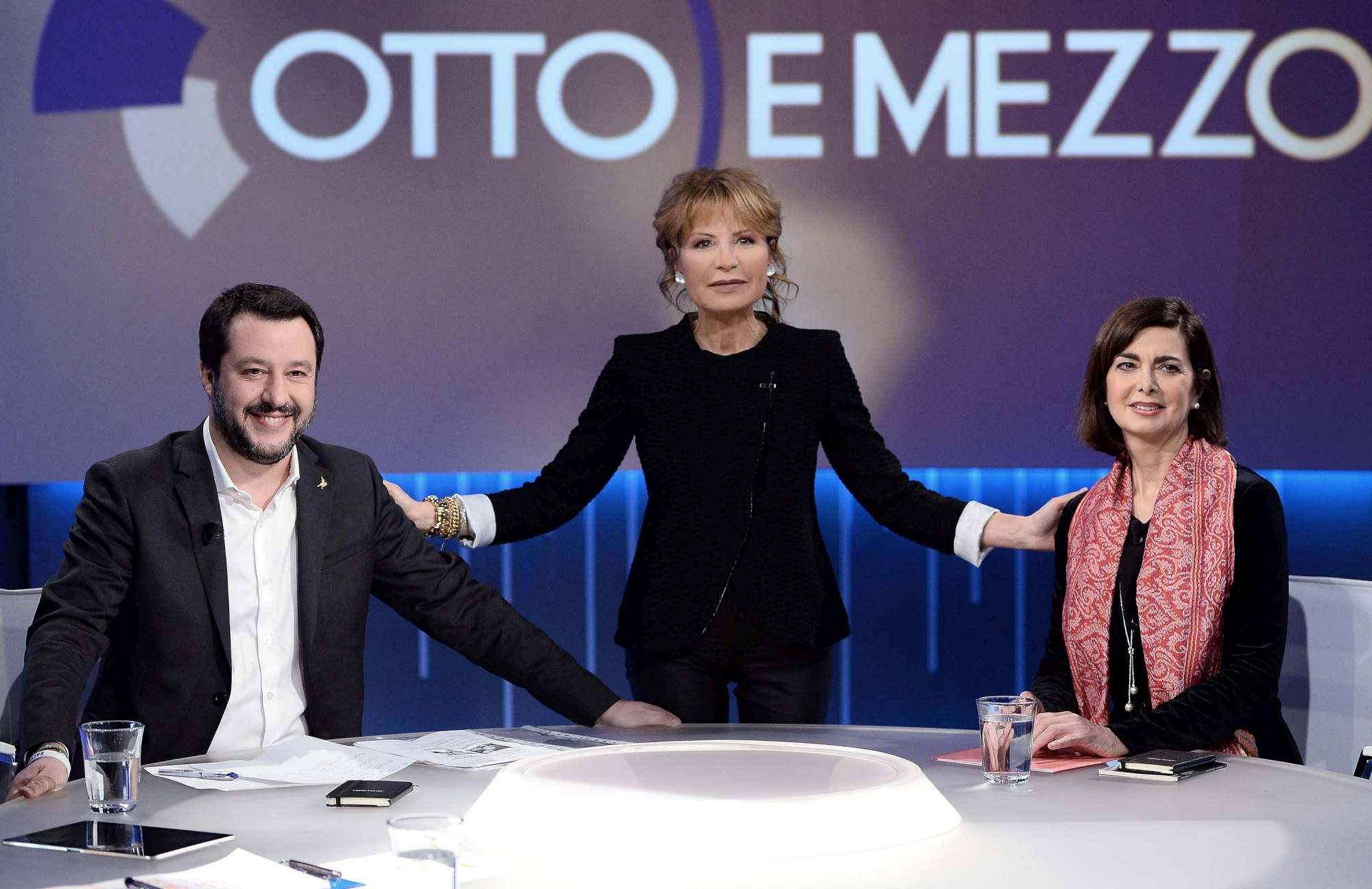 Duello in tv tra Laura Boldrini e Matteo Salvini