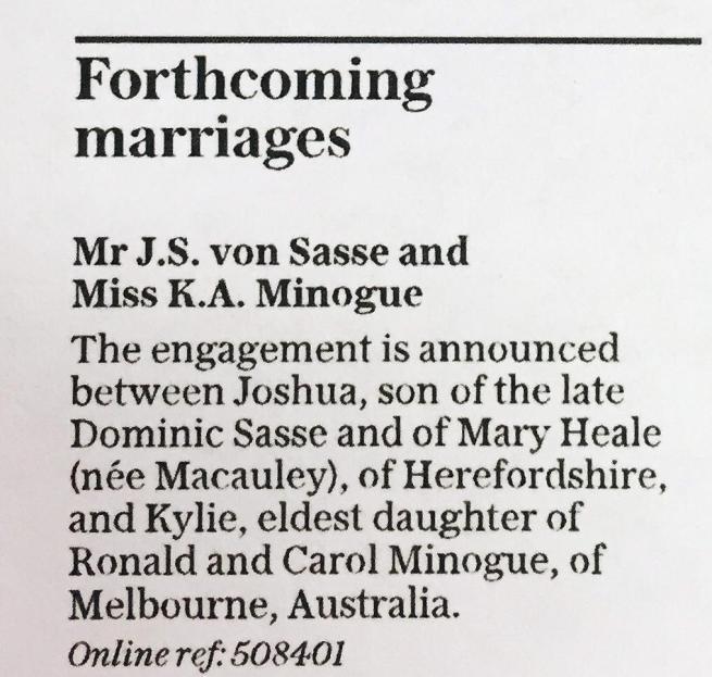 Kylie Minogue, la pop star si fidanza ufficialmente con l'attore Joshua Sasse