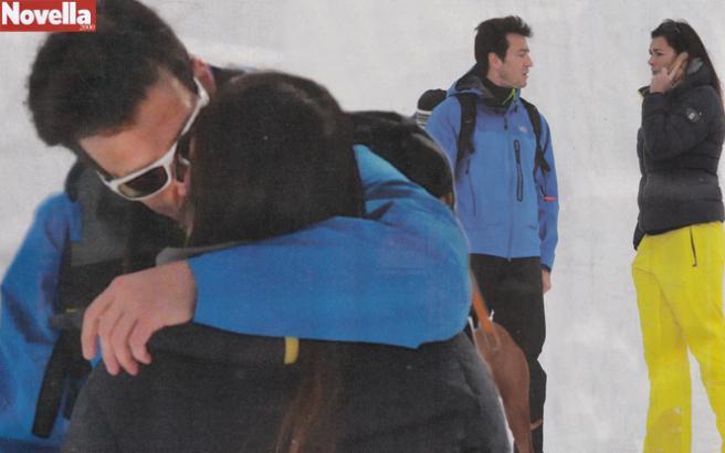 Alena Seredova e Alessandro Nasi, amore e passione anche sul ghiaccio