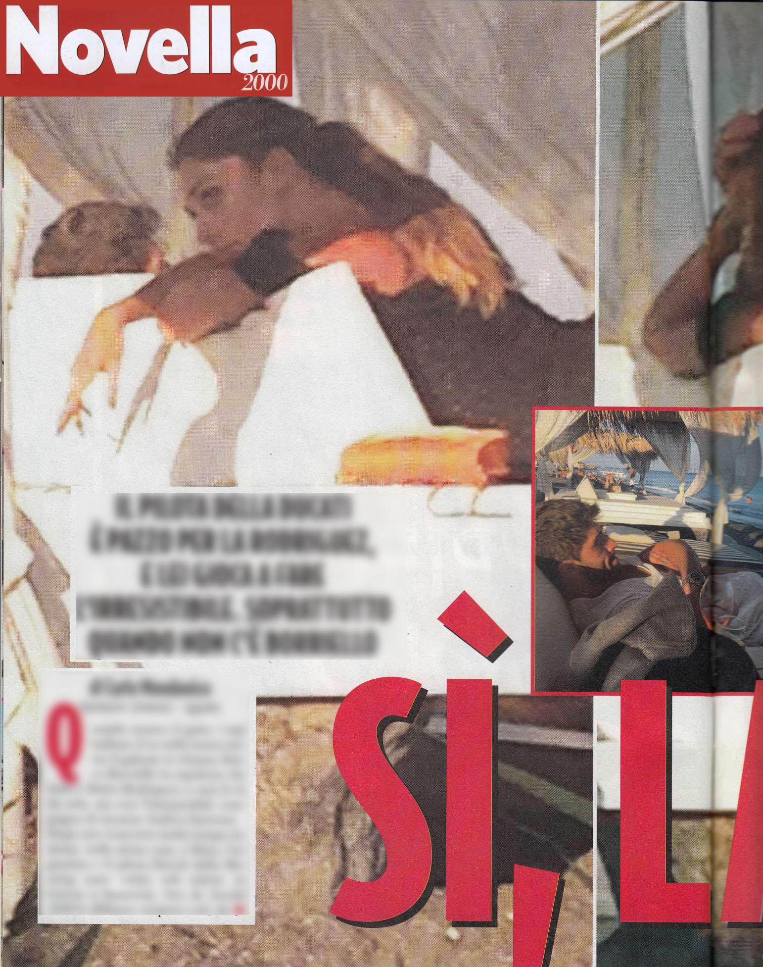 Belen Rodriguez e Andrea Iannone flirtano in Grecia