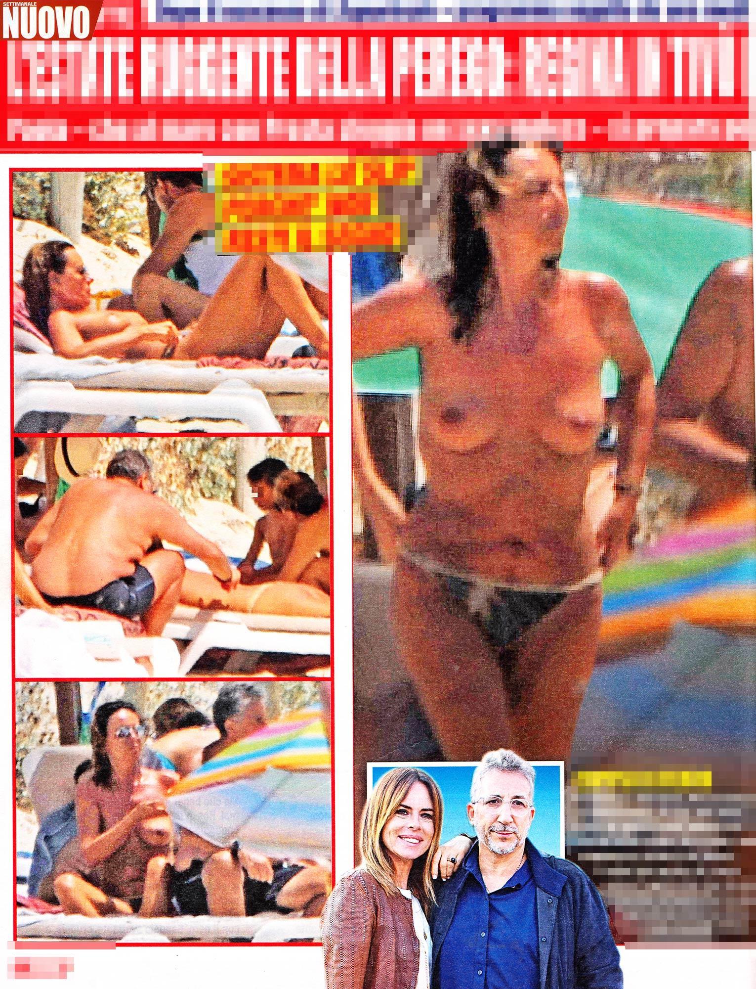 Paola Perego, topless a Formentera con Lucio Presta