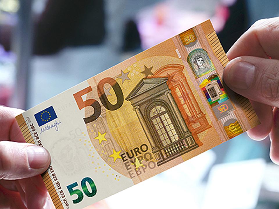 Bce svela nuova banconota da 50 euro