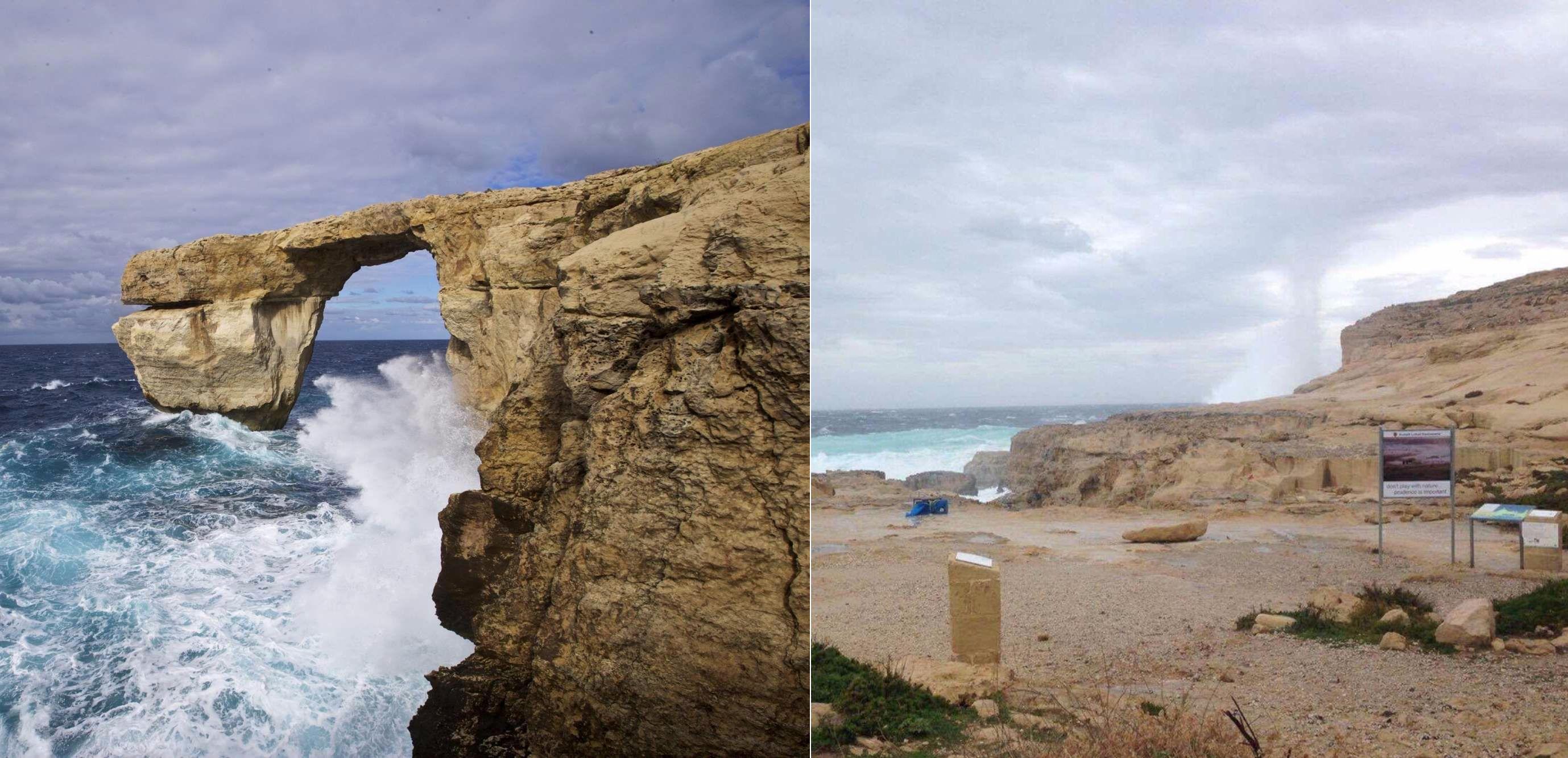 Crolla la finestra azzurra di malta il maltempo - Finestra sul mare malta ...