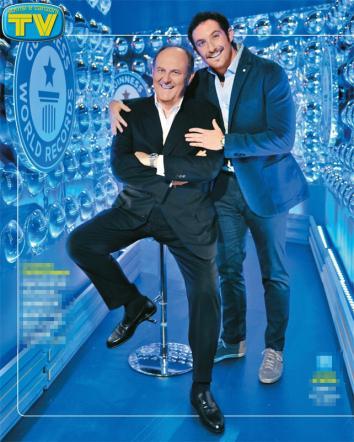 """Gerry Scotti e il figlio Edoardo insieme per lo """"Show dei Record"""""""