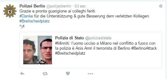 Da Berlino i  grazie  all Italia della polizia tedesca e della gente comune