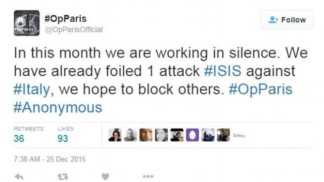 """Anonymous: """"Abbiamo sventato un attacco dell'Isis in Italia, lavoriamo in silenzio"""""""