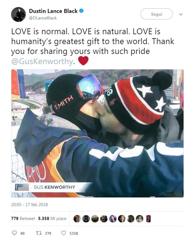 Il bacio olimpico contro l omofobia va in diretta tv: l impresa d oro di Gus e Matt
