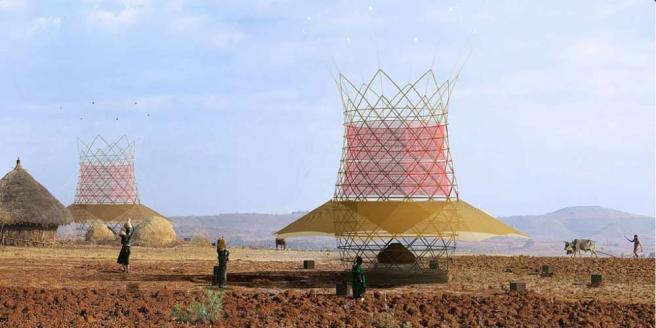 Etiopia, nuova arma contro la siccità: una torre di bambù ideata dagli italiani