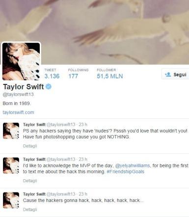"""Taylor Swift, account violati dagli hacker: """"Non avete mie foto osé"""""""