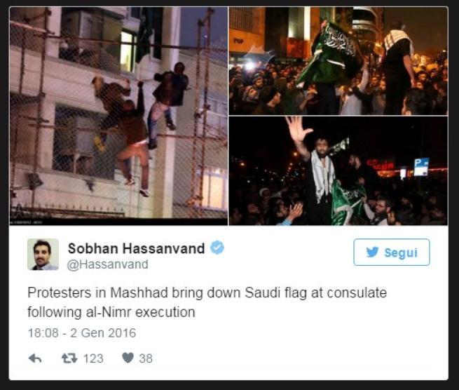 Iran, vendetta per l'imam giustiziato: bruciato consolato saudita