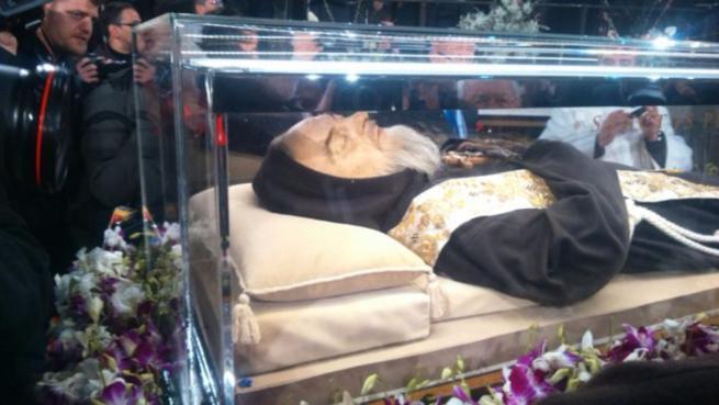 Le spoglie di San Pio giunte a Roma da San Giovanni Rotondo