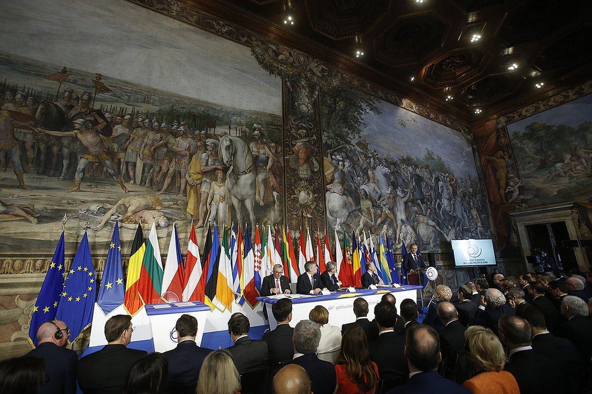 Roma, i leader di 27 paesi alle celebrazioni per i 60 anni dei Trattati fondativi dell Unione Europea