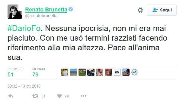 Sui social l  onore delle armi  tra Jacopo Fo e Renato Brunetta