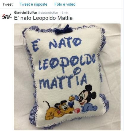Gigi Buffon e Ilaria D Amico, è arrivato Leopoldo