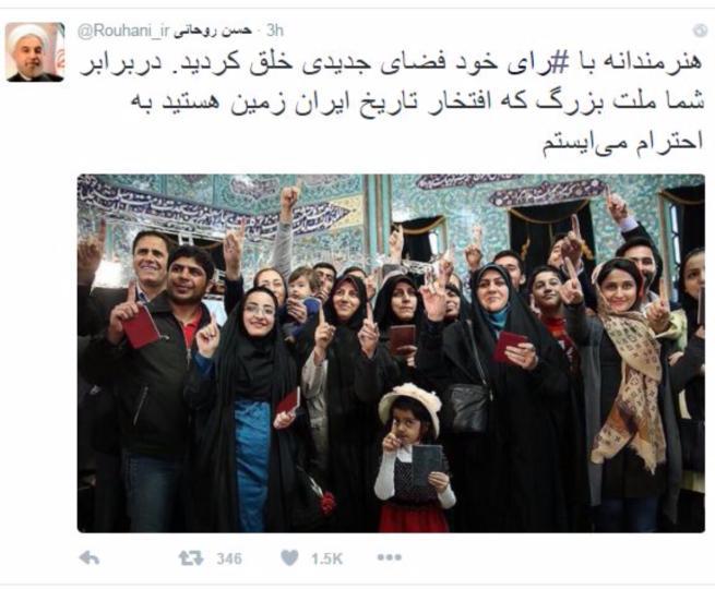 """Elezioni in Iran, trionfano i riformisti Rohani: """"Avete creato una nuova atmosfera"""""""