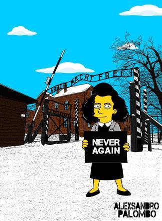 I Simpson ad Auschwitz con Anna Frank in versione fumetto