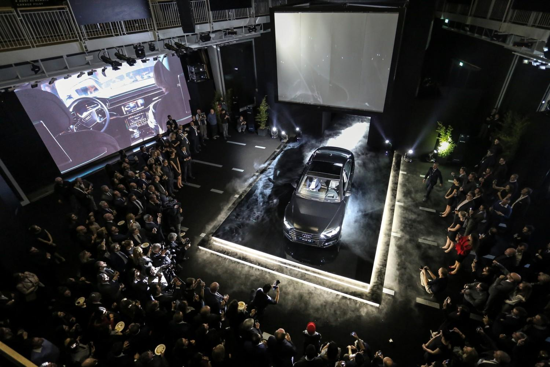Nuova Audi A8, premiere a Milano