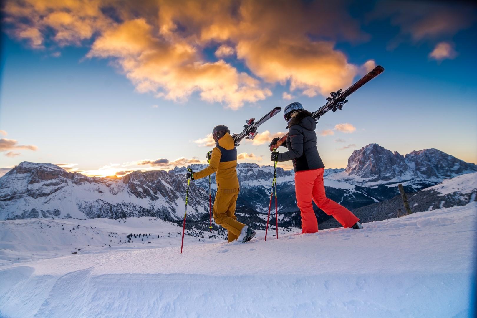 Val Gardena, l'incanto della neve e delle Dolomiti