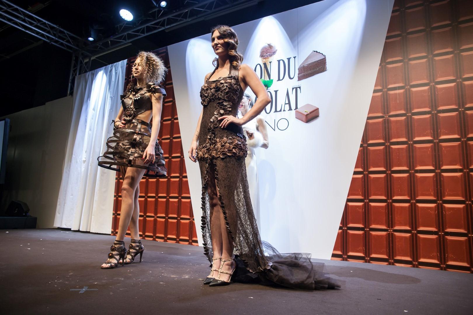 Ufficio Stile Moda : Moda: a milano sfilano gli abiti di cioccolato tgcom24