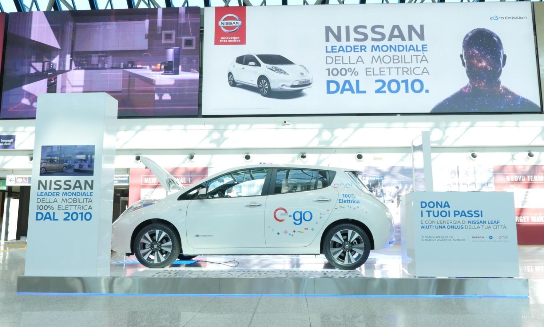 Nissan Leaf shuttle a Fiumicino