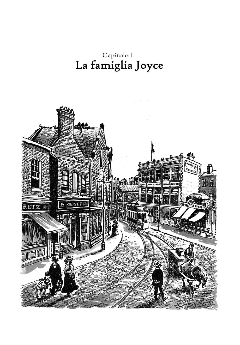 James Joyce, ritratto di un dublinese : alcune tavole del graphic novel di Alfonso Zapico