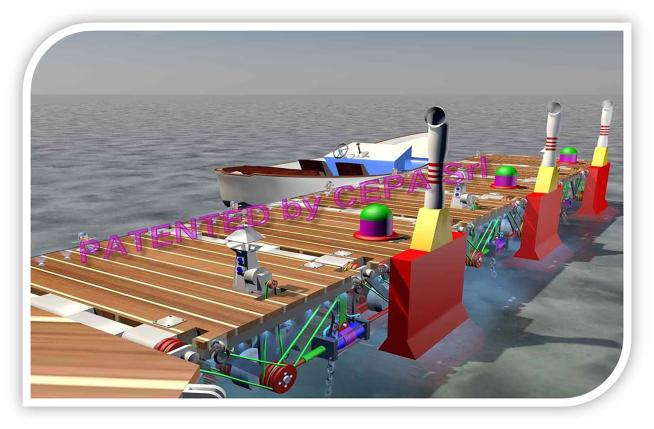 """E' italiano il pontile """"sostenibile"""" che genera energia a partire dal sole e dal mare"""